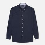 Мужская рубашка Hackett Solid Texture Navy фото- 0