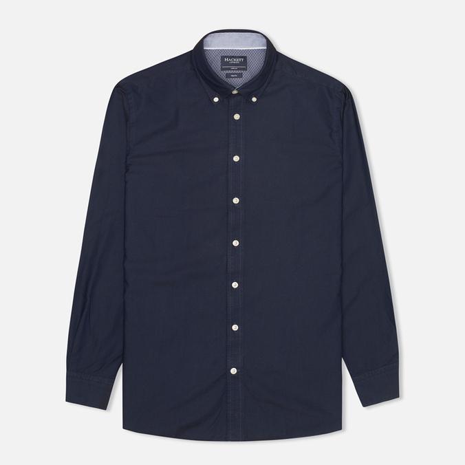 Hackett Solid Texture Men's Shirt Navy