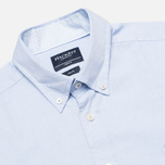 Мужская рубашка Hackett Washed Plain Pinpoint Sky фото- 1