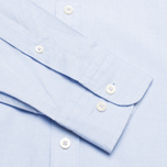 Мужская рубашка Hackett Washed Plain Pinpoint Sky фото- 3