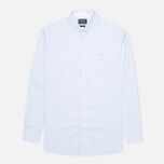 Мужская рубашка Hackett Washed Plain Pinpoint Sky фото- 0