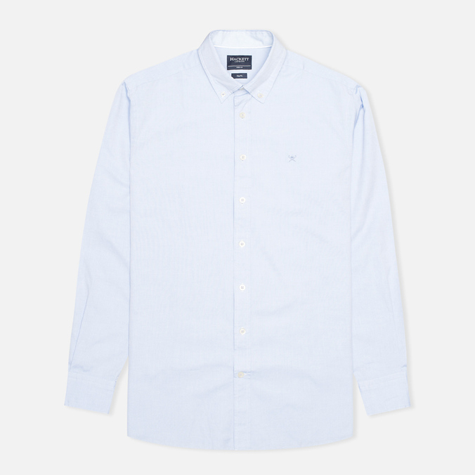 Мужская рубашка Hackett Washed Plain Pinpoint Sky