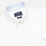 Мужская рубашка Hackett Washed Plain Pinpoint White фото- 1