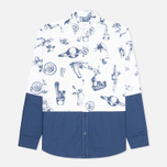 Kommon Universe Time Traveller Men's Shirt Blue/White photo- 0