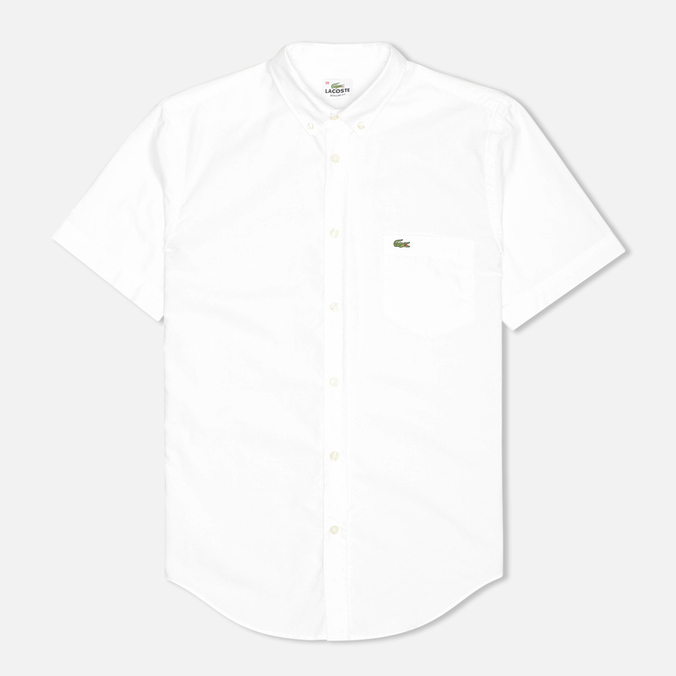 Мужская рубашка Lacoste Classic Fit Short Sleeve White