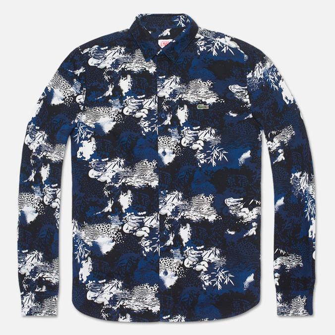 Lacoste Live Camo Shirt  Navy/Black/White