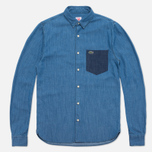 Мужская рубашка Lacoste Live Denim Shirt Blue фото- 0