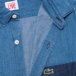 Мужская рубашка Lacoste Live Denim Shirt Blue фото- 2