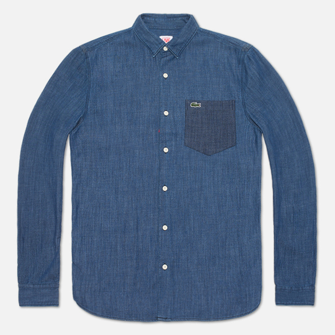 Мужская рубашка Lacoste Live Denim Shirt Dark Blue