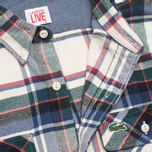 Мужская рубашка Lacoste Live Large Check White фото- 2