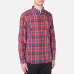 Мужская рубашка Lacoste Live Skinny Fit Checked Shirt Sandalwood/Marinere/Bordeaux фото- 0