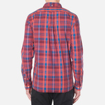 Мужская рубашка Lacoste Live Skinny Fit Checked Shirt Sandalwood/Marinere/Bordeaux фото- 3