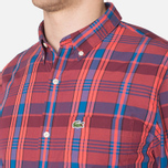 Мужская рубашка Lacoste Live Skinny Fit Checked Shirt Sandalwood/Marinere/Bordeaux фото- 5