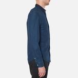Lacoste Live Skinny Fit Denim Shirt Dark Blue Rinse photo- 1