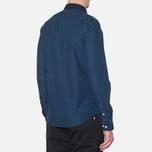 Lacoste Live Skinny Fit Denim Shirt Dark Blue Rinse photo- 2