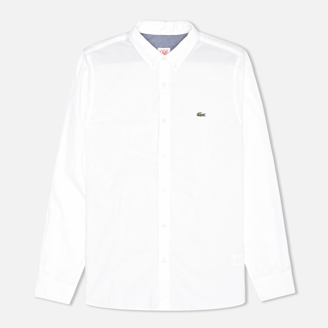 Мужская рубашка Lacoste Live Skinny Fit White