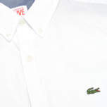 Мужская рубашка Lacoste Live Skinny Fit White фото- 2