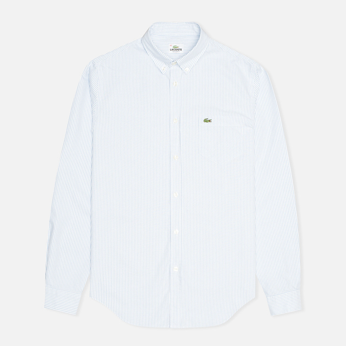 Lacoste Live Striped Oxford Men's Shirt Astre/White
