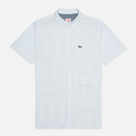 Мужская рубашка Lacoste Live Striped Relief Ciel/Blanc фото- 0
