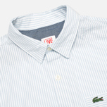 Мужская рубашка Lacoste Live Striped Relief Ciel/Blanc фото- 1