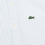 Мужская рубашка Lacoste Live Striped Relief Ciel/Blanc фото- 3