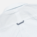 Мужская рубашка Lacoste Live Striped Relief Ciel/Blanc фото- 5