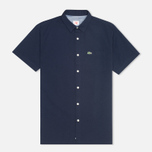 Мужская рубашка Lacoste Live Striped Relief Navy фото- 0