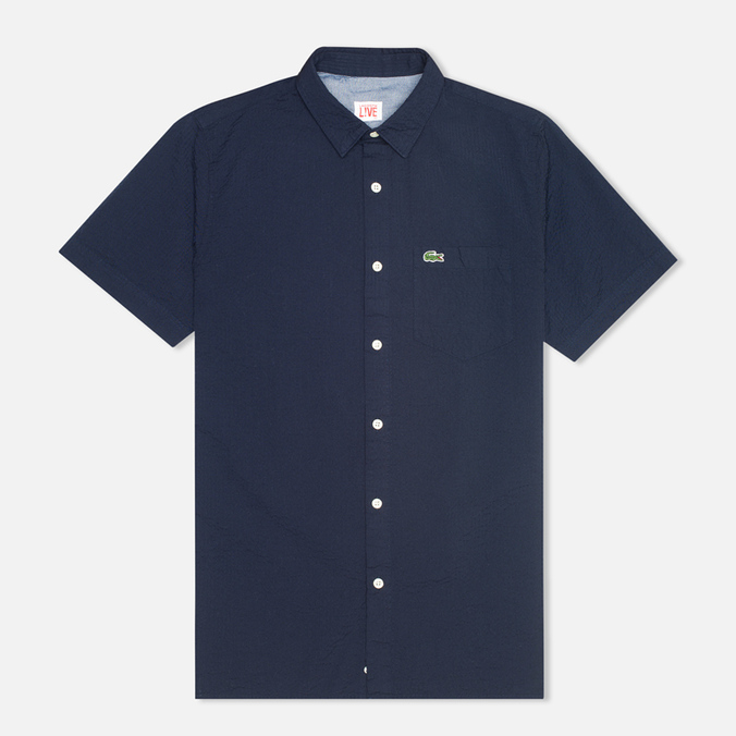 Мужская рубашка Lacoste Live Striped Relief Navy