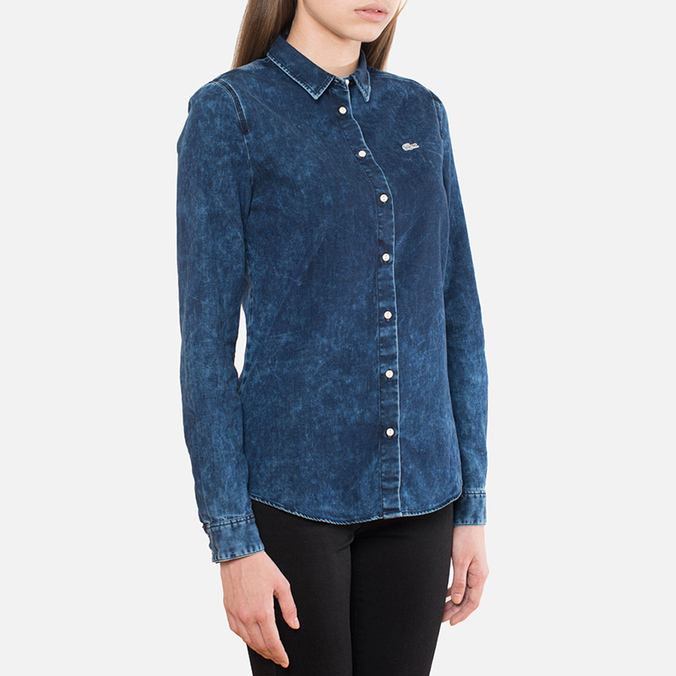 Lacoste Live Denim Shirt Medium Wave