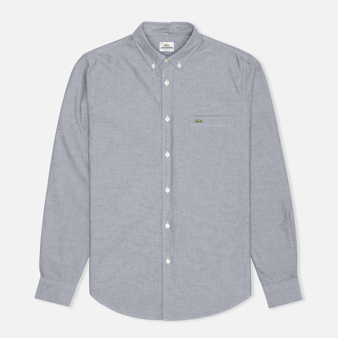 Мужская рубашка Lacoste Oxford Cotton Regular Fit Boreal Blue