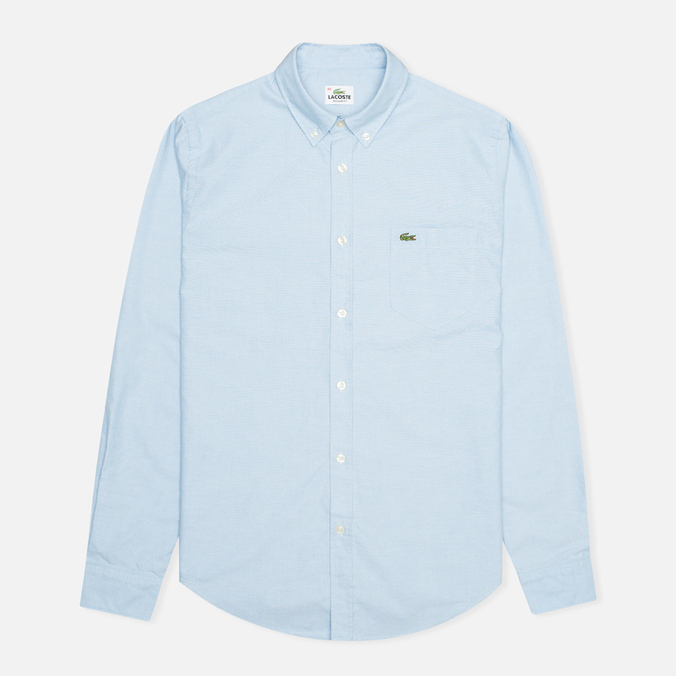 Мужская рубашка Lacoste Oxford Cotton Regular Fit Naval