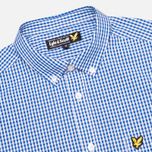 Мужская рубашка Lyle & Scott Logo Oxford French Navy фото- 1