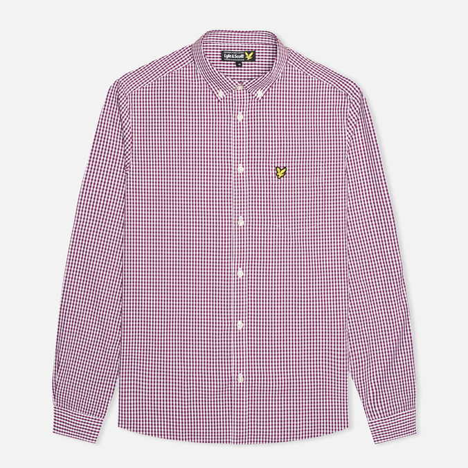 Мужская рубашка Lyle & Scott Traditional Gingham Blackcurrant