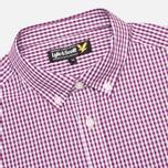 Мужская рубашка Lyle & Scott Traditional Gingham Blackcurrant фото- 1