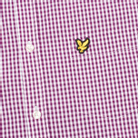 Мужская рубашка Lyle & Scott Traditional Gingham Blackcurrant фото- 2