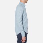 MA.Strum Long Sleeve Base Button Front Shirt Blue Chambray photo- 1