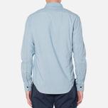 MA.Strum Long Sleeve Base Button Front Shirt Blue Chambray photo- 3