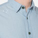 MA.Strum Long Sleeve Base Button Front Shirt Blue Chambray photo- 6