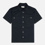 Мужская рубашка Maison Kitsune Safari MC Dark Navy фото- 0