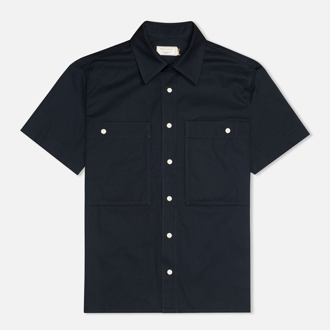 Мужская рубашка Maison Kitsune Safari MC Dark Navy