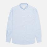 Maison Kitsune Tricolor Patch Classic Men's Shirt Blue photo- 0