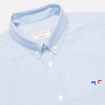 Мужская рубашка Maison Kitsune Tricolor Patch Classic Blue фото- 1