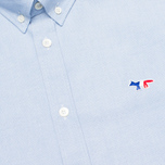 Maison Kitsune Tricolor Patch Classic Men's Shirt Blue photo- 2