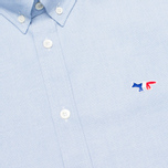 Мужская рубашка Maison Kitsune Tricolor Patch Classic Blue фото- 2