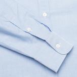 Maison Kitsune Tricolor Patch Classic Men's Shirt Blue photo- 3
