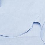 Maison Kitsune Tricolor Patch Classic Men's Shirt Blue photo- 4