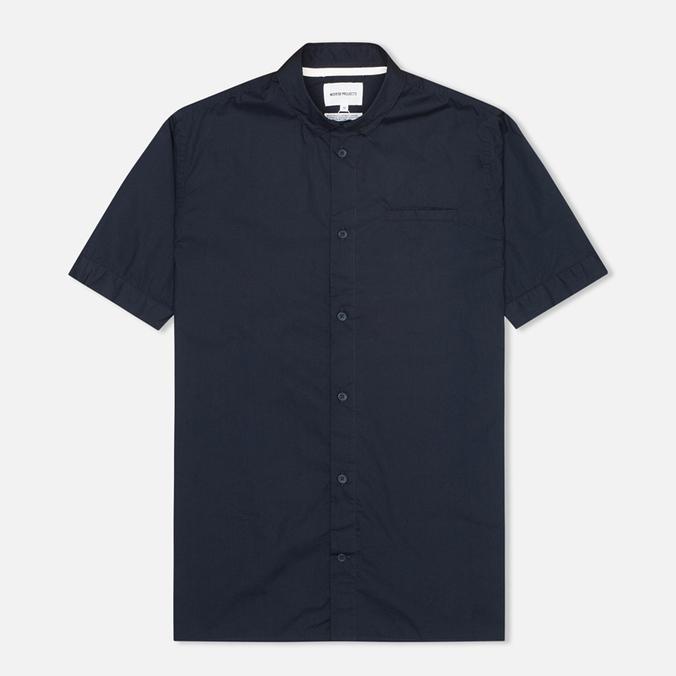 Мужская рубашка Norse Projects Aaron Crisp Poplin SS Dark Navy