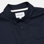 Мужская рубашка Norse Projects Aaron Crisp Poplin SS Dark Navy фото- 1