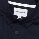 Мужская рубашка Norse Projects Aaron Crisp Poplin SS Dark Navy фото- 2