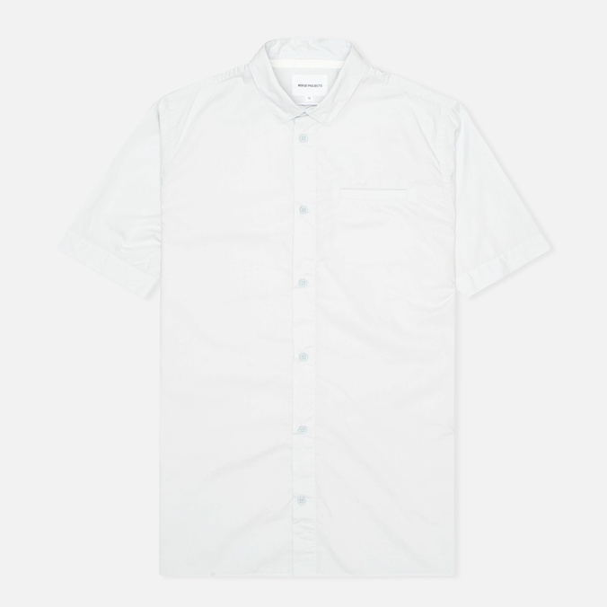 Мужская рубашка Norse Projects Aaron Crisp Poplin SS Pale Blue